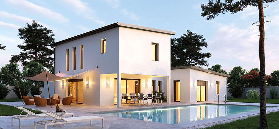 villas club des maisons contemporaines petit prix. Black Bedroom Furniture Sets. Home Design Ideas